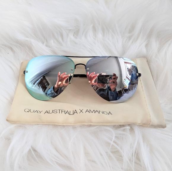 Quay Australia X Amanda Aviator Sunglasses